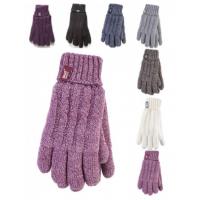 قفازات نسائية بألوان مختلفة من HeatHolders ، مورد الملابس الحرارية.
