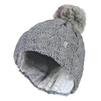 قبعة دافئة رمادية من HeatHolders ، الشركة الرائدة في صناعة الملابس الحرارية.