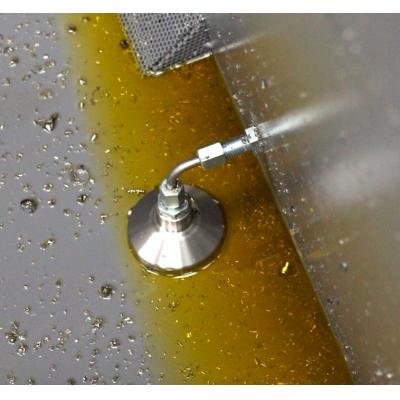 نظام استرداد سائل التبريد الذي يسترد سائل التبريد من صندوق النفايات.