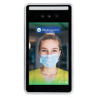 Use the facial recognition temperature scanner to protect staff and customers from viruses.