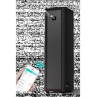 معطر هواء الفندق باللون الأسود مع التحكم في تطبيق Bluetooth.