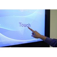 شاشة تعمل باللمس الرقمية لافتات قرب المستخدمة