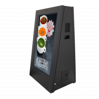 علامات رقمية تعمل بالبطارية في الهواء الطلق عرض الجانب الأيسر التي تواجه.