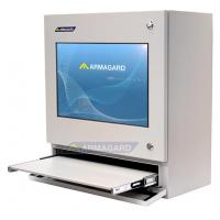 شاشة تعمل باللمس علبة لوحة المفاتيح تظهر أجهزة الكمبيوتر الصناعية مفتوحة