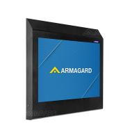 خزانة التليفزيون المضادة للربط من Armagard تحمي التلفزيون في المواقع عالية الخطورة.