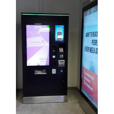En PCAP folie touch screen billet maskine