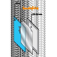 Diagram over hvordan man monterer berøringsglas og berør folie fra VisualPlanet