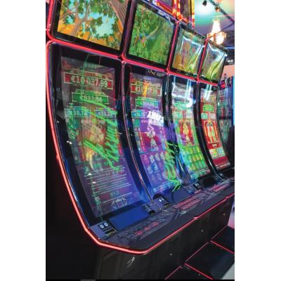Bøjede spilleautomater, der bruger PCAP touchscreen glas