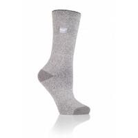 Varme grå sokker fra HeatHolders, den førende producent af termiske sokker.
