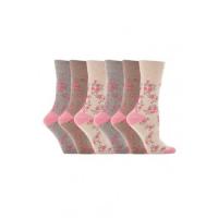 Rose mønster sokker fra den komfortable sok producent.