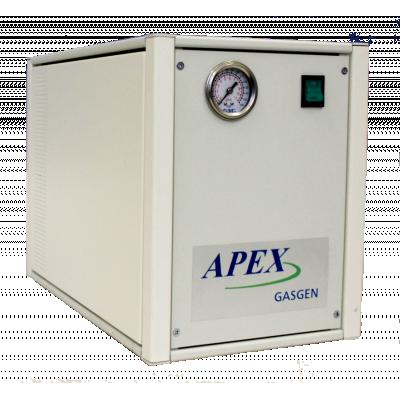 Zero Air Generator viser frontpanel med switch og trykmåler