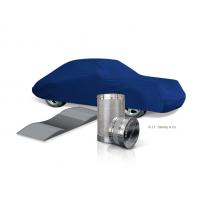 Indendørs bilafdækningssæt med tørremiddelcylinder og dæksko.