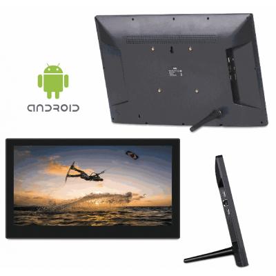 Android trådløst salgssted viser front-, bagside- og sidebillede.