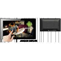 Berøringsskærm Android-skærm set forfra og bagfra.