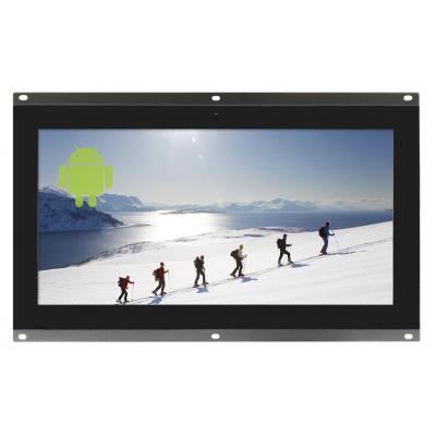 10,1-tommer åben ramme skærm set forfra.
