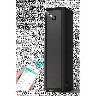 Hotel luftfrisker i farve sort med Bluetooth app-kontrol.