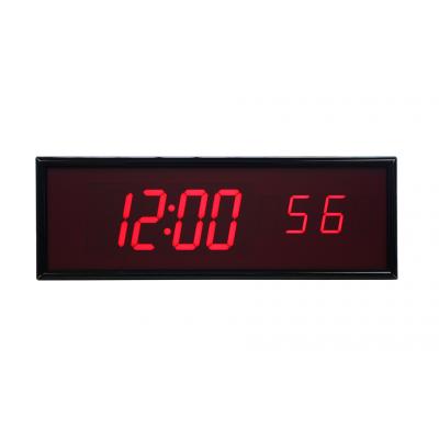 BRG sekscifret ntp synkroniseret digital ur forfra