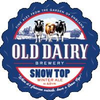 sne top af gamle mejeri, britiske vinter ale distributør