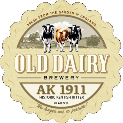 ak 1911 af gamle mejeri bryggeri, british kentish øl distributør