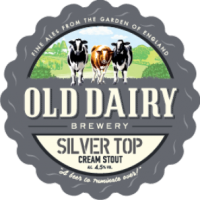 sølv top: silver top af gamle mejeri bryggeri, british creme stout distributør