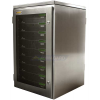 Vandtæt rack mount kabinet fuld af rack-servere
