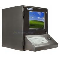 vandtæt pc kabinet højre side med monitor tændt