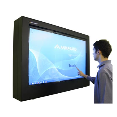 Armagard touch screen digital skiltning