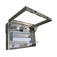 Vandtæt LCD-kabinet venstre visning af enheden med døren åben