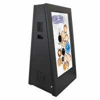 The outdoor digital A-frame signage unit is ideal for pedestrianised locations.