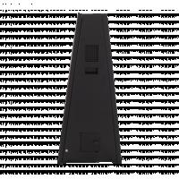 Udendørs batteridrevet digitalskilte fra siden.