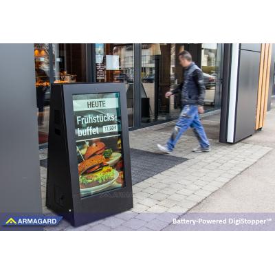 Armagards bærbare DigiStopper, der vises på ISE Amsterdam.
