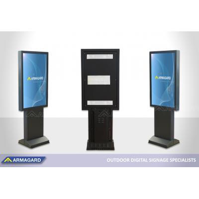 Kør gennem totem for Samsung OHF-skærme, der udstilles på ISE 2020.