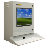 industrielle pc kabinet med tastaturbakke