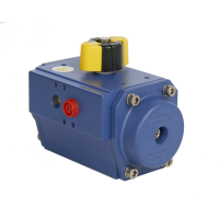 blå pneumatisk aktuator