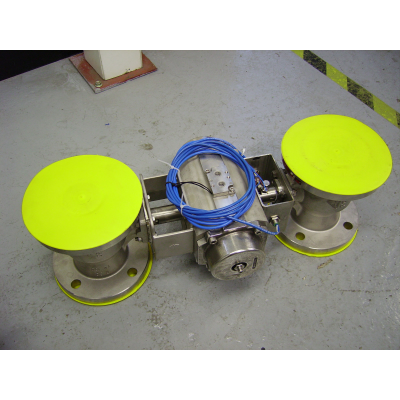 to konstrueret ventil med aktuator