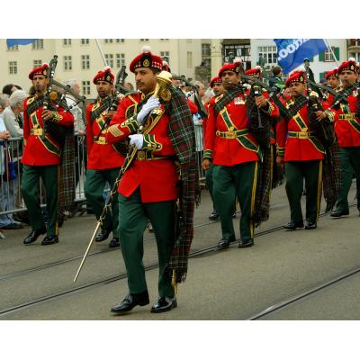 Et moderne marcheband drager fordel af den rige historie af militære sækkepibe