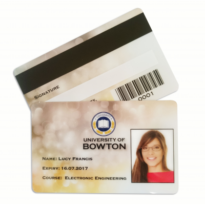 plast ID-kort udskrivning service