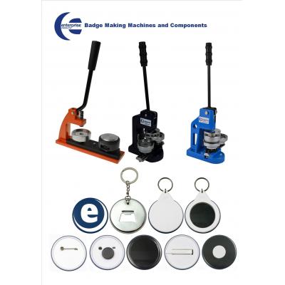 Enterprise Products knap badge maker til skræddersyede badges, magneter, nøgleringe og meget mere.
