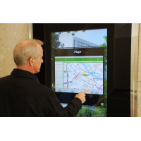 PCAP foil is ideal for interactive wayfinding kiosk solutions