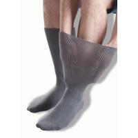 Extra breite, graue Ödemsocken von GentleGrip.