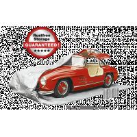 Rijd eenvoudig de PermaBag in, trek hem over uw auto en rits hem dicht om een luchtdichte autohoes te maken.