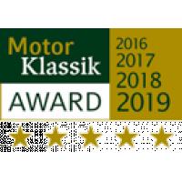 Motor Klassik Award für Autoschutzhüllen von J.F. Stanley & Co. Hagelschutzplane im Sortiment.
