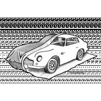 Rijd gewoon op de PermaBag, trek hem over uw auto en ritst hem omhoog om een tijdelijke garage voor auto's te creëren.