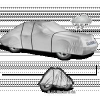 Wasserdichte Autoabdeckung schützt Fahrzeuge vor Nässe.