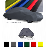 The Auto-Pyjama satin garage car cover is available in eight colours for cars and motorbikes.