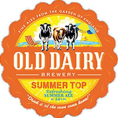Sommer oben durch alte Molkerei Brauerei, britische Sommer Ale Distributor