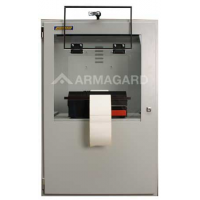 Druckergehäuse Frontansicht mit Druckerklappe offen