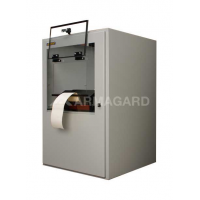 Druckergehäuse Seite auf Ansicht mit Druckerklappe offen