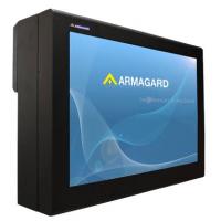 Outdoor-TV-Gehäuse mit Bildschirm auf