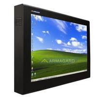 tv Displayschutz Ansicht von rechts mit Monitor auf